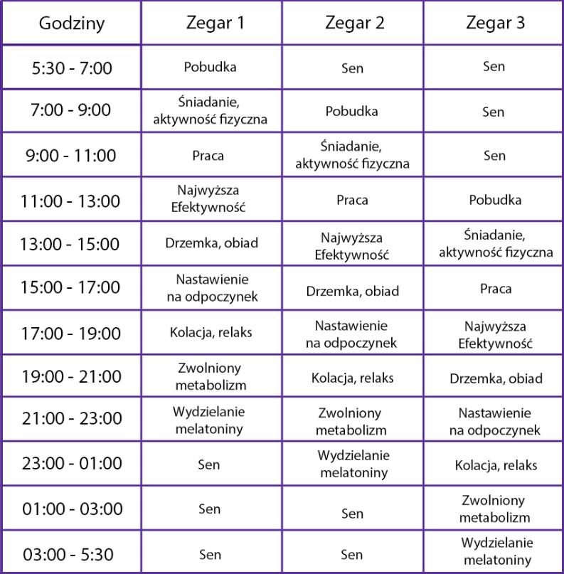 Zegar Biologiczny - przykłady zegara Biohac